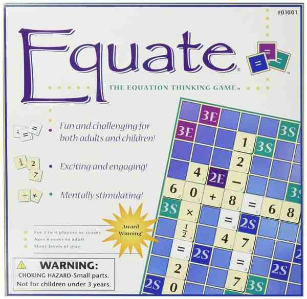 Homeschool Math: Equate The Equation Thinking Game.
