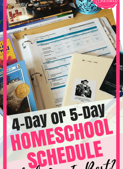 A 4-Day or 5-Day Homeschool Schedule, Which One Is Best?