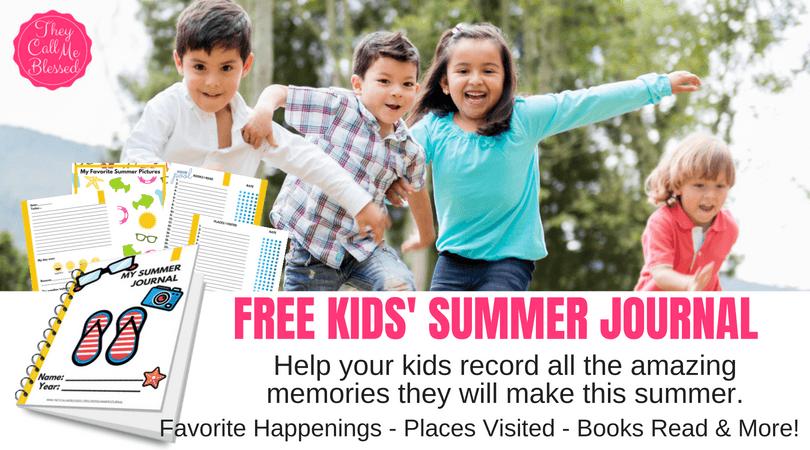 Free Kids Summer Journal
