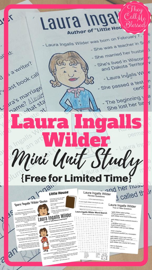 Laura Ingalls Wilder Unit Study