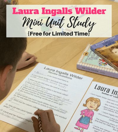 FREE Laura Ingalls Wilder Mini Unit Study