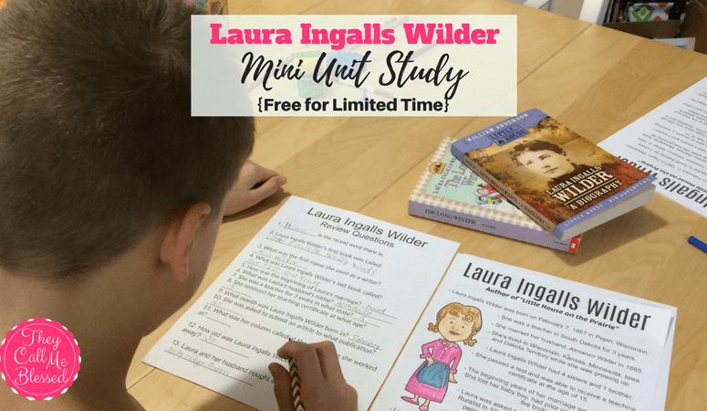 FREE Laura Ingalls Wilder Mini Unit Study