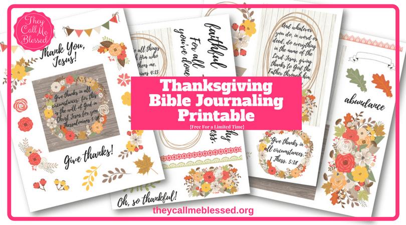 Free Thanksgiving Bible Journaling Printable | Gratitude Bible Journaling Printable | Gratitude Journal | Gratitude Printable | Thanksgiving Printable
