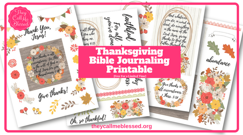 Free Thanksgiving Bible Journaling Printable | Gratitude Bible Journaling Printable | Gratitude Journal | Gratitude Printable | Thanksgiving Printable