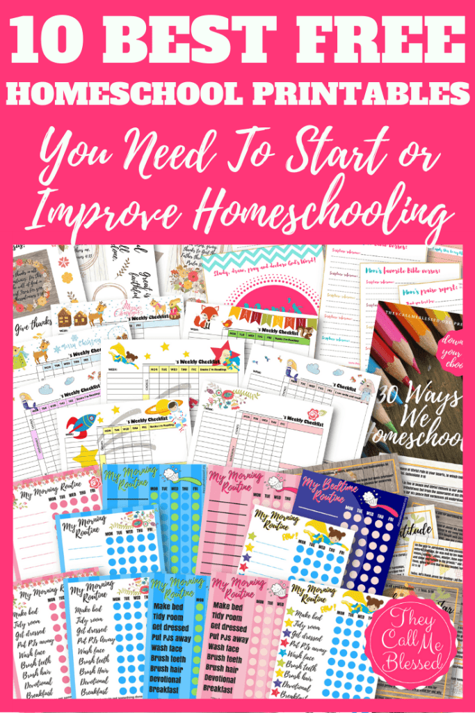 10 Best FREE Homeschool Printables You Need To Start or Improve Homeschooling