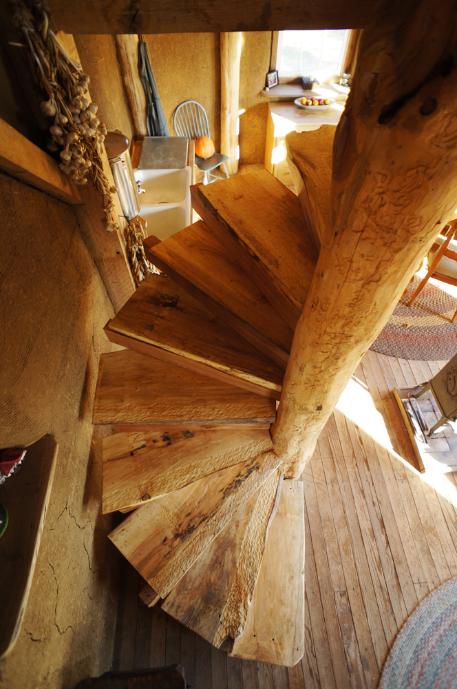 a diy wooden spiral staircase design how we did it the year of mud. Black Bedroom Furniture Sets. Home Design Ideas