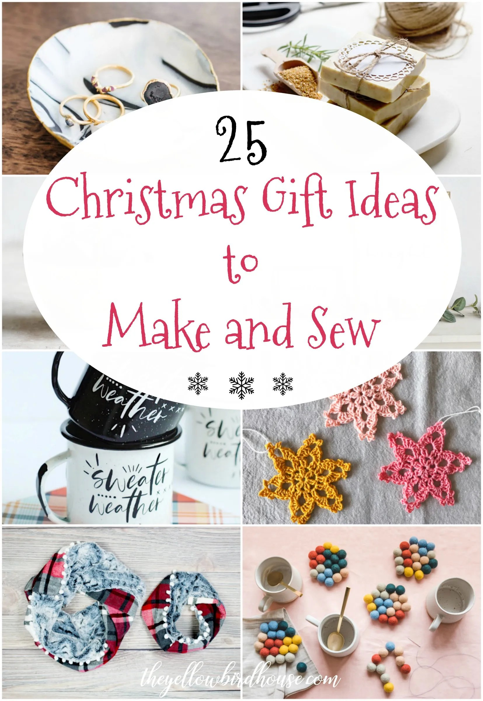 25 amazing tutorials and DIYs for handmade Christmas gifts. Treat your loved ones to extra special diy Christmas gifts this year. Cozy, cute and simple Christmas gift ideas to make and sew.