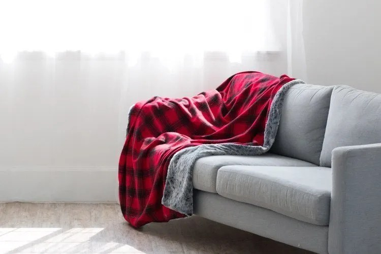 Beautiful and cozy homemade blanket of flannel and fur!