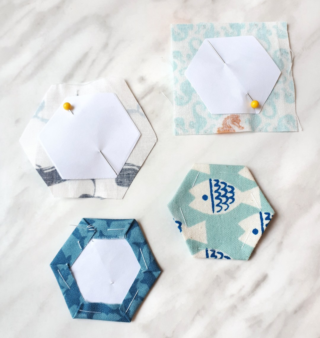 How to english paper piece hexies