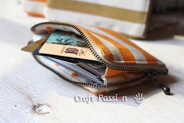 DIY Zipper card pouch. Cute homemade gifts.