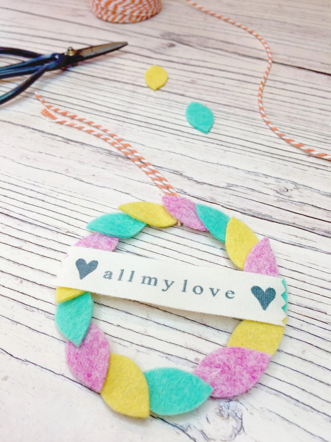 Use little felt scraps to make cute gift toppers!