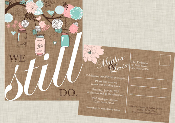 We Still Do Vow Renewal Ceremony Invites
