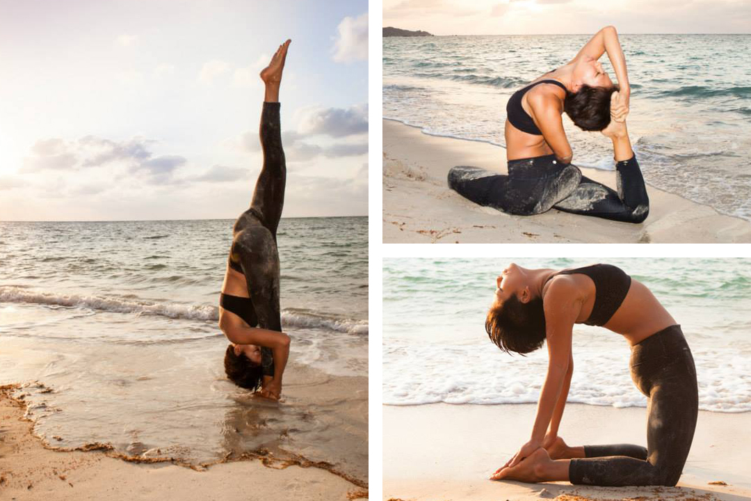 Yoga shoot at the beach, Koh Samui, Thailand
