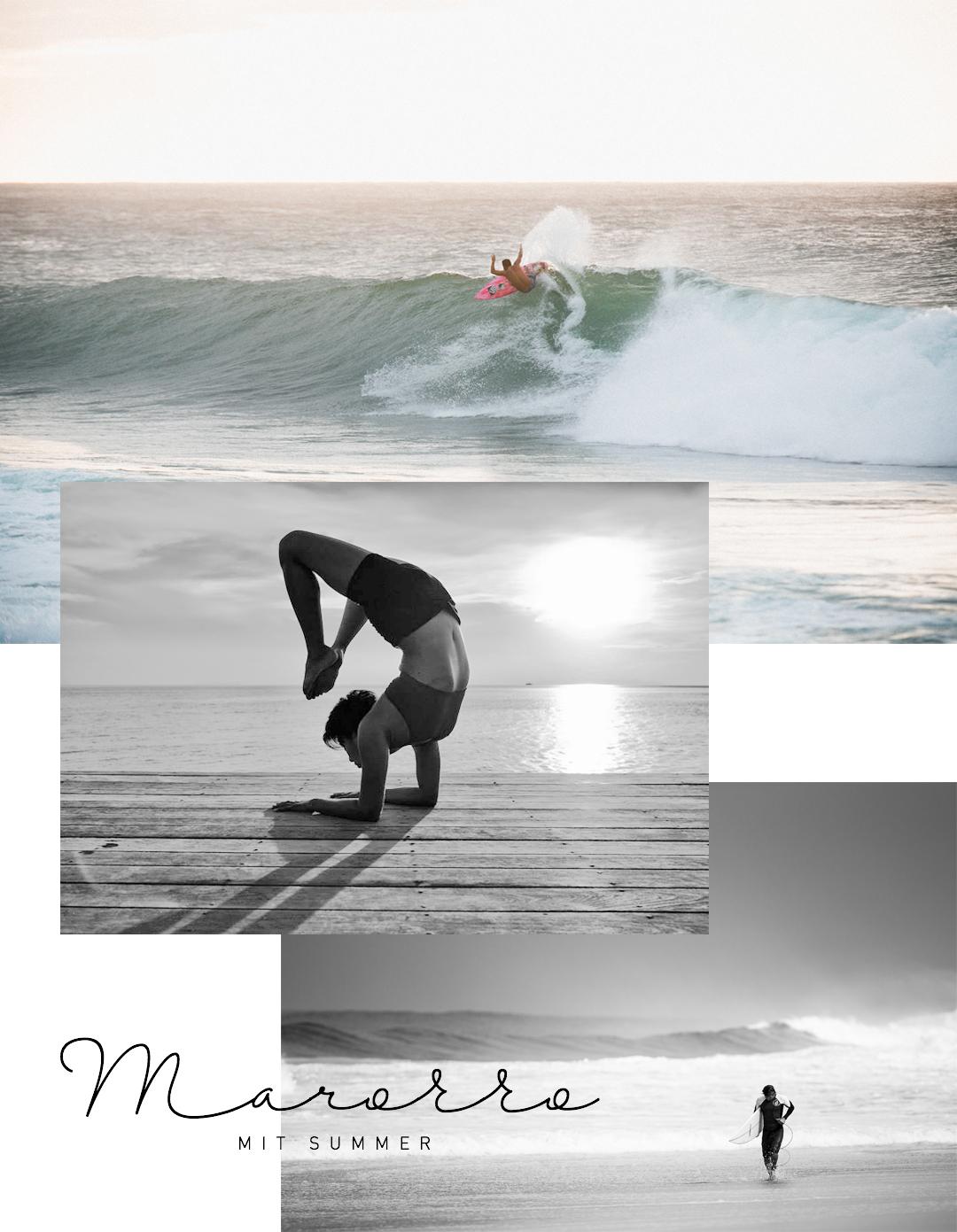 Summer Dien international Yoga teacher Yoga and Surf Marocco