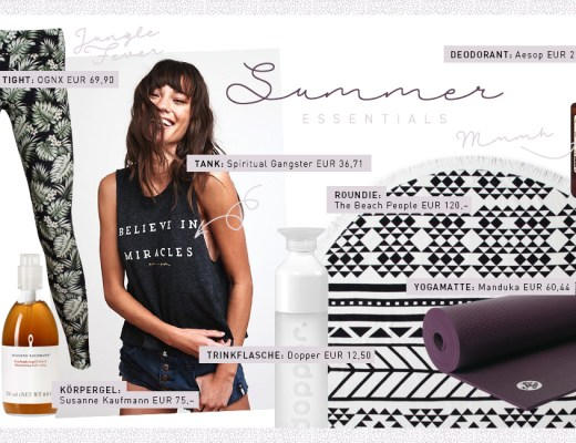 Summer Edition 2017 Valerie's Yogi's Essentials Produktliebe Favoriten Yoga Accessoires Must-haves Leggings Yogamatte Produkte