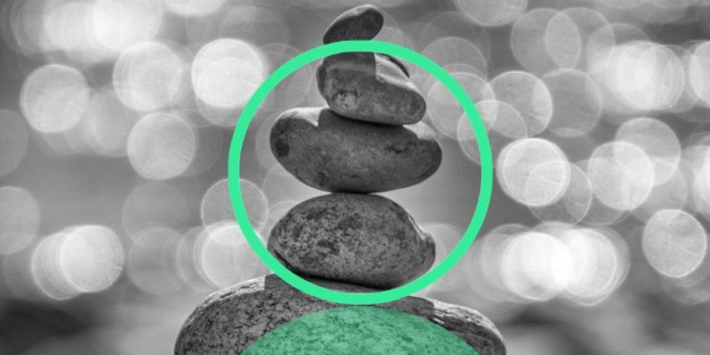 Mindfulness pile of stones