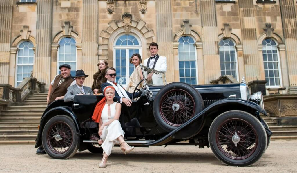 Cast: (l to r) George, Nick, Myrtle, Jordan, Tom, Daisy, Gatsby. Source: https://www.visityork.org/whats-on/the-great-gatsby-immersive-experience-p836271