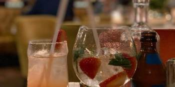 Image of drinks in restaurant