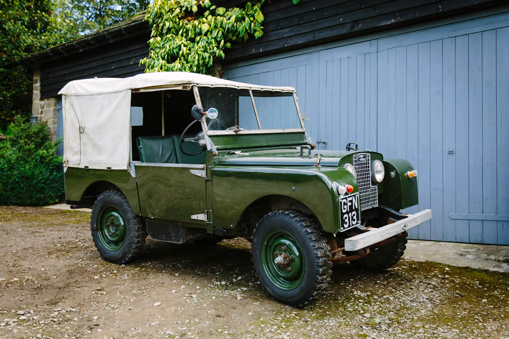 Vintage Land Rover Wedding Car Hire Yorkshire Dales