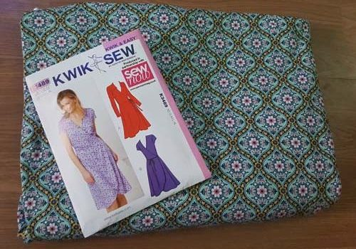 Kwiksew 3489 Wrap Dress and a little Trick!