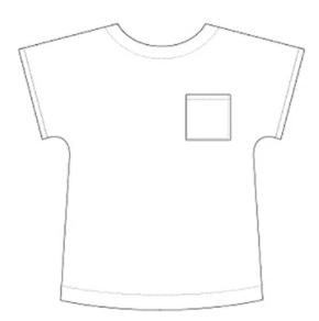Front view Line Drawing of Tilly and the Buttons Stevie Top