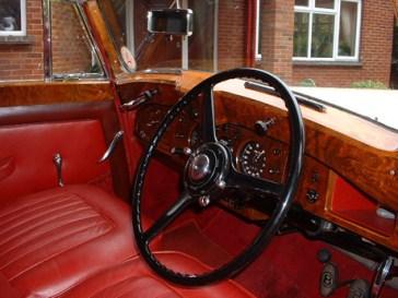 1950 Bentley front Interior of a vintage wedding car