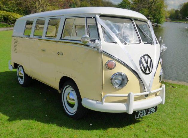 VW Split Screen Campervan - Cream & White - Wedding Bus