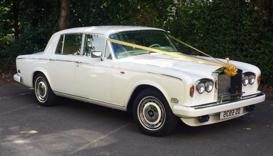 White Rolls Royce Silver Shadow