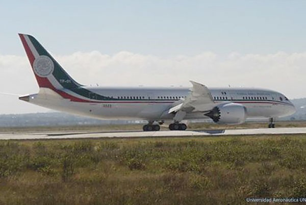 Presidential plane: December delivery. UNIVERSIDAD AERONAÚTICA DE QUERÉTARO (Photo: mexiconewsdaily.com)