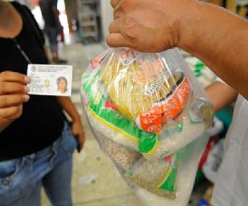 When the vote is paid with food... a common practice in Mexico.