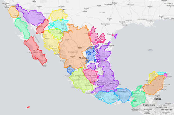 european countries within mexico map