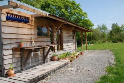 the communal cabin at the yurt farm