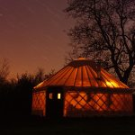yurt-at-night