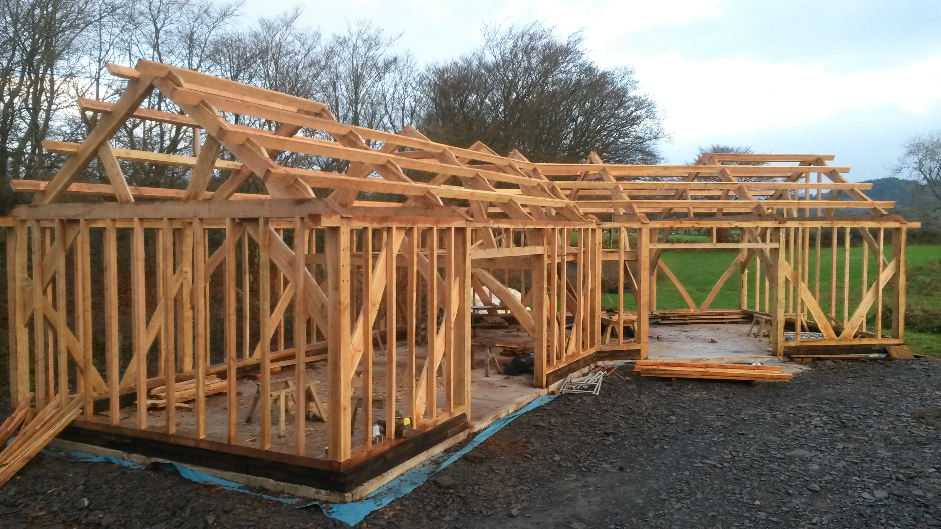 Timber frame barn building the yurt farm A frame builders