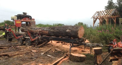 Milling timber for our new house