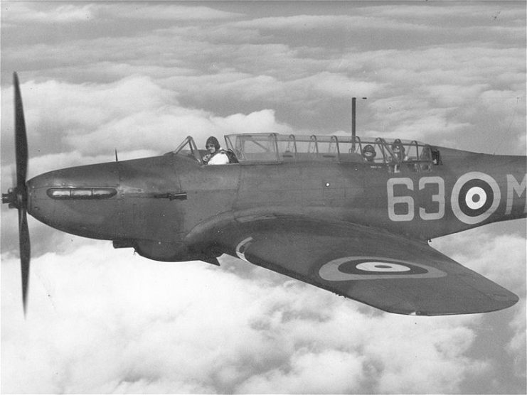 Plane: A Fairey Battle, pre-war aircraft used during the 'Phoney War'. (Credit: Warhistoryonline.com)