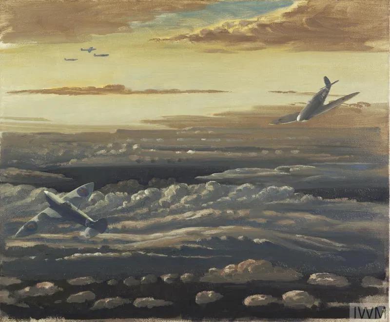 Clouds and Spitfires by Walter Monnington © IWM Art.IWM ART LD 3767