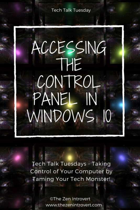 Accessing The Windows 10 Control Panel