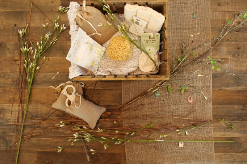A wooden box with spa essentials. This could be an extremely thoughtful gift for the caregivers in your life.