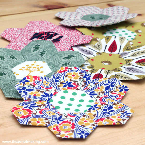 30 Colorful Hexagon Projects to Sew featured by top US sewing blog, Flamingo Toes: English Paper Piecing, Hexies Part 2 | The Zen of Making