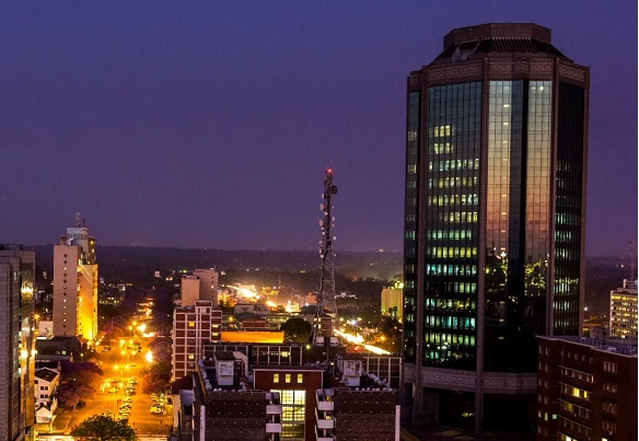 Harare at night