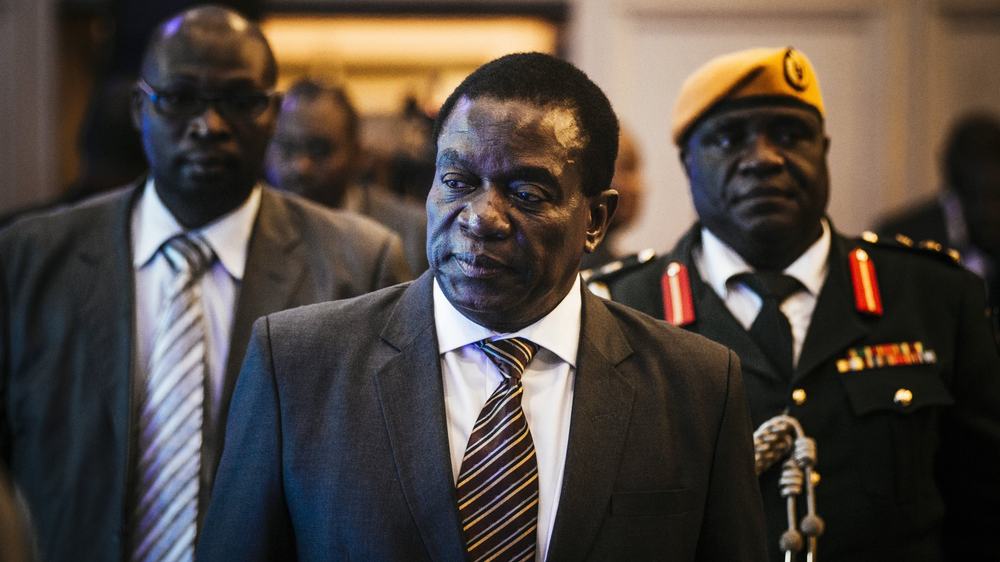 Zimbabwe's Mnangagwa voices concern over Mugabe opposition links