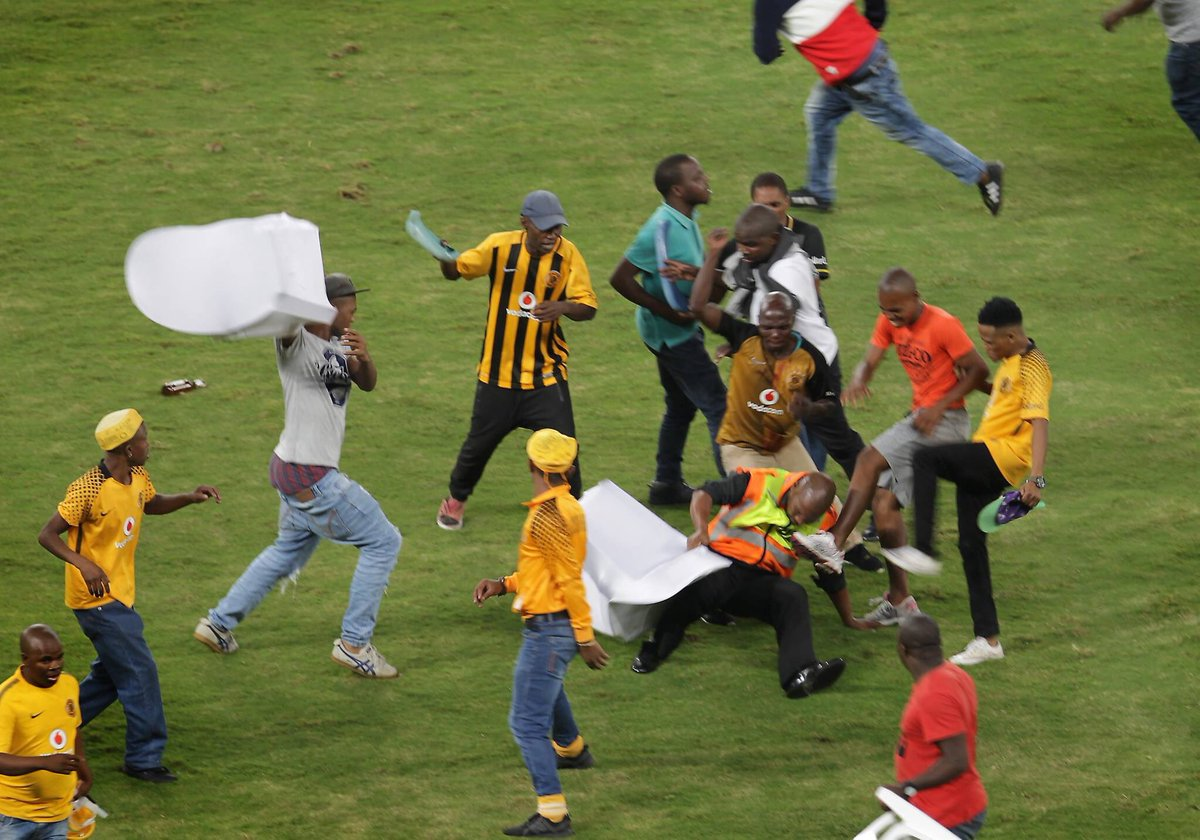 Kaizer Chiefs charged for their fans violent behavior