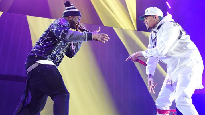 """50 Cent crowns Chris Brown new king of pop: """"CB better then"""