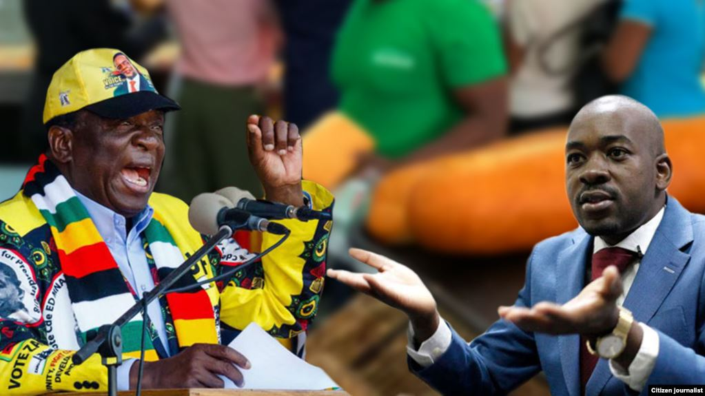 Chamisa and Mnangagwa