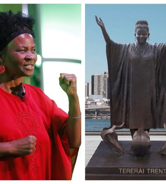 Image result for Zimbabwean Tererai Trent 'humbled' by New York statue