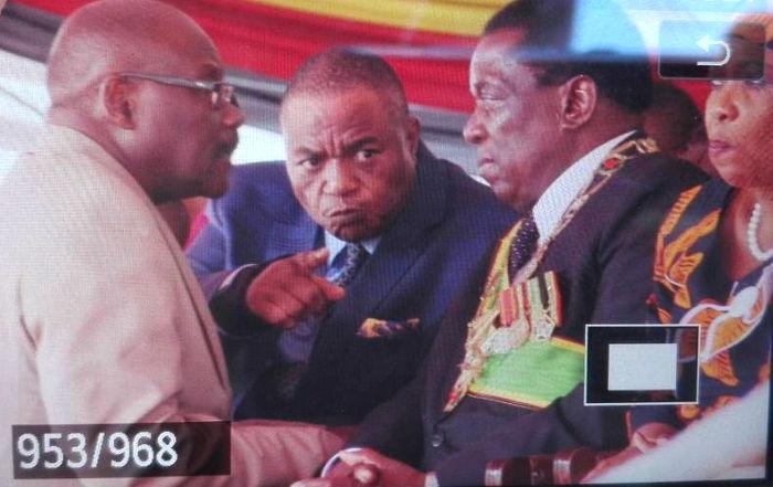 Chiwenga, Mnangagwa and Parirenyatwa's Tense Moment At Independence Celebrations