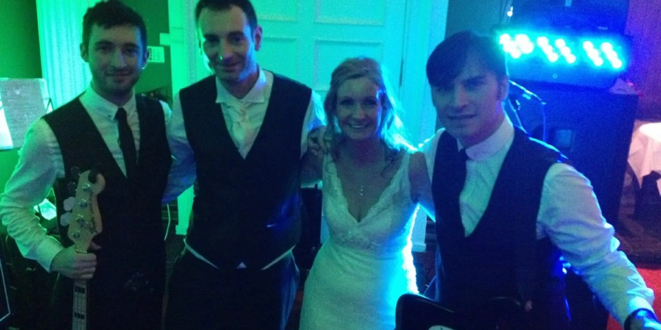 The Zoots performing at HAzlewwod Castle for Matt and Ninas wedding