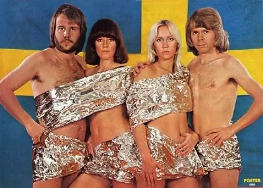 Photo of Abba in tin foil