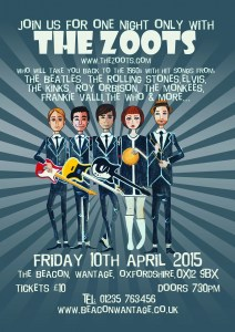 The Zoots, 1960s show, 60s show, sixties, Theatre, Beacon, Wantage, 1960s, 1960's band, tribute band,